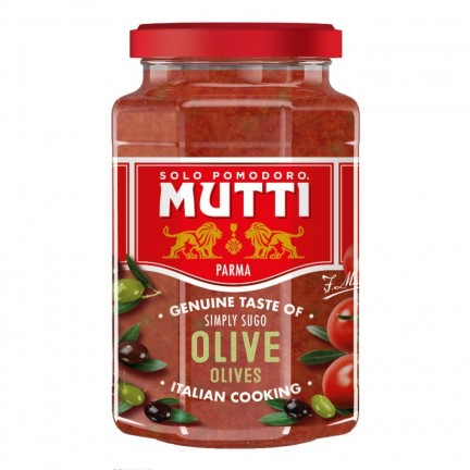 MUTTI PASTA SAUCE WITH OLIVES 400G