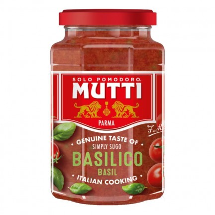 MUTTI PASTA SAUCE WITH BASIL 400G