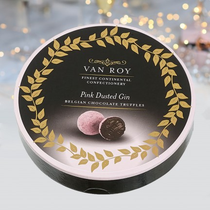 Pink Dusted Gin Truffle Round Box