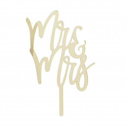 'Mr & Mrs' Cake Topper