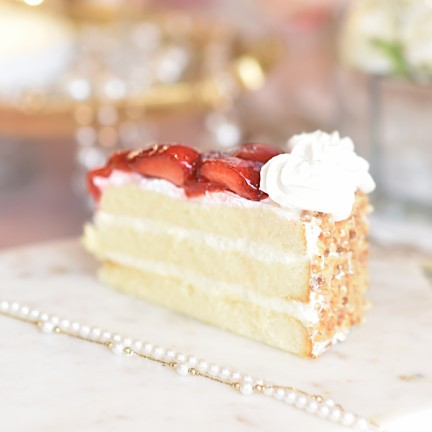 Strawberry Gateaux Slice